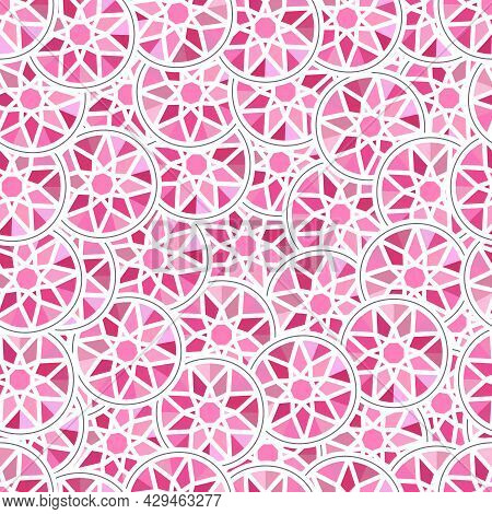 Seamless Background, Pink Rhinestone Abstraction. Seamless Texture For Design. Illustration