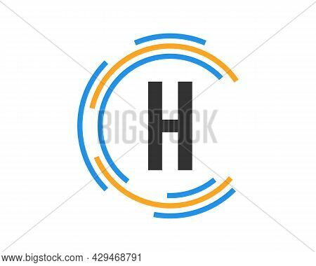 Technology Logo Design With H Letter Concept. H Letter Technology Logo