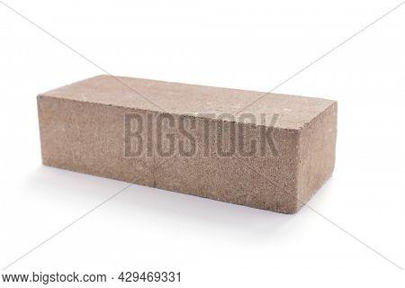 Brick isolated on white background. Construction brick isolate on white