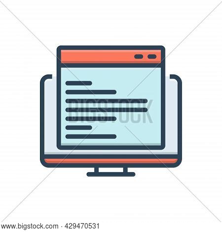 Color Illustration Icon For Code Code-optimization App Optimization Programmer Technology Website
