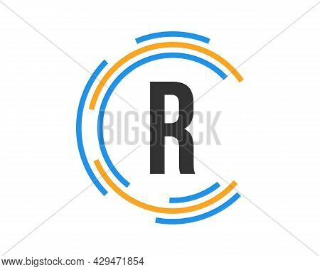 Technology Logo Design With R Letter Concept. R Letter Technology Logo