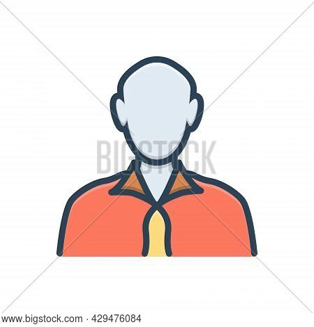 Color Illustration Icon For Man People Human-beings Individuals Adult Human