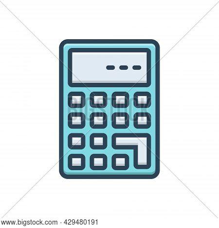 Color Illustration Icon For Calculate Calculation Mathematics Add Solve