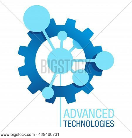 Advanced Technologies Logo Template. Engineering Industry Production Manufacturing In Creative Futur