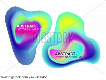 Abstract Liquid Color Gradient Waves. Fluid Freeform Colorful Shapes. Blur Colors Effect Soft Transi