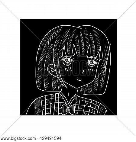 Manga Style. Japanese Cartoon Comic Concept. Anime Characters. Hand Drawn Trendy Vector Illustration