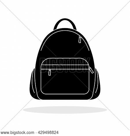 Backpack Icon. Vector Illustration. Black Backpack Icon. Isolated Backpack Icon