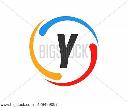 Technology Logo Design With Y Letter Concept. Y Letter Technology Logo
