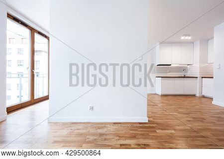 Empty new apartment interior real estate for sale or rent