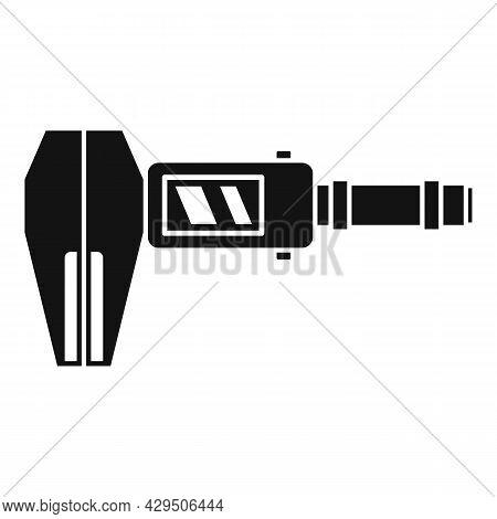 Screen Caliper Icon Simple Vector. Micrometer Tool. Calliper Instrument