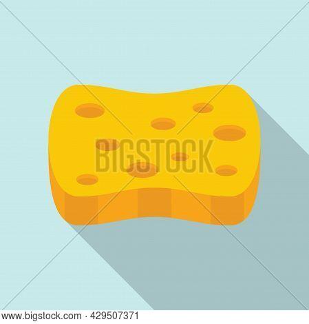 Bathroom Sponge Icon Flat Vector. Wash Foam. Shower Clean