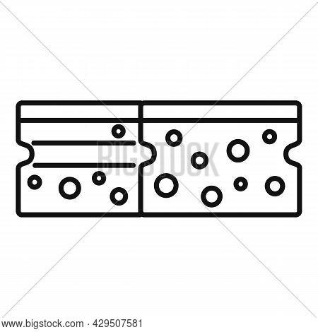 Kitchen Sponge Icon Outline Vector. Dish Wash. Clean Water Sponge