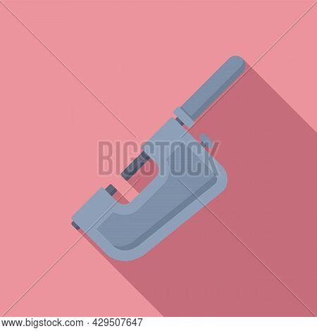 Precision Micrometer Icon Flat Vector. Vernier Caliper. Calliper Dimensions