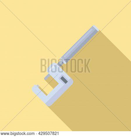 Micrometer Calliper Icon Flat Vector. Precision Caliper. Technical Gauge