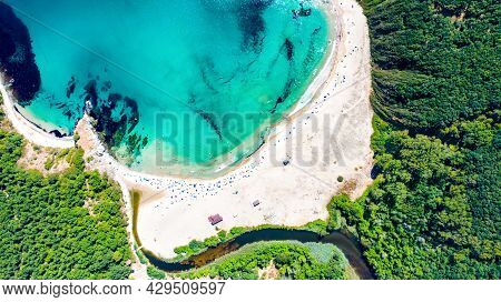Silistar, Bulgaria. Amazing Turquoise Water And Sandy Beach On Bulgarian Black Sea