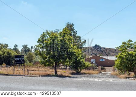 Smithfield, South Africa - April 23, 2021: Entrance To The Golf Club In Smithfield In The Free State