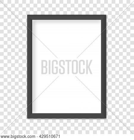 White Blank Frame For Picture, Poster Or Photo. Empty White Picture Frame Mockup Template Isolated O