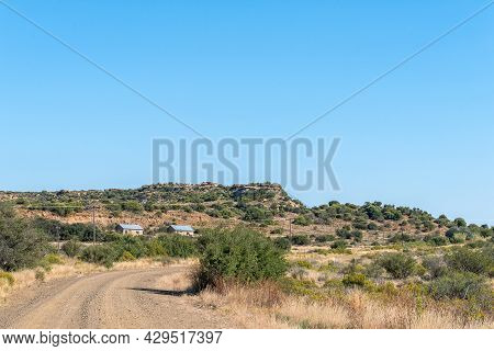 Farm Worker Houses Next To Road D2679 In The Eastern Cape Province