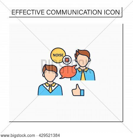 Choosing Right Medium Color Icon. Selection Appropriate Communication Space. Avoiding Noisy Places.