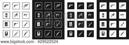 Set Small Gun Revolver, Mp9i Submachine, Pepper Spray, Pistol Or, Submachine M3, Revolver, Hunting A