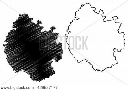 Herefordshire County (united Kingdom, Ceremonial County Of England) Map Vector Illustration, Scribbl