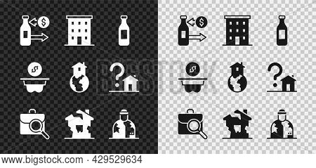 Set Reception Of Glass Bottles, Multi Storey Building, Bottle Water, Work Search, Ruined House, Home