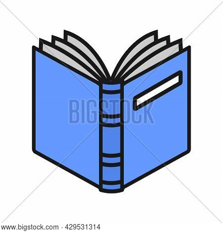 Book Icons. Open Book Vector On White Background. Open Book Simple Sign. Open Book Design Isolated.