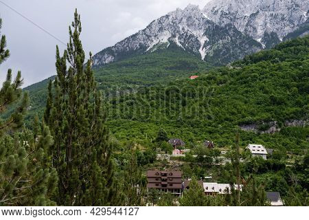 Mountain Landscape In National Park Theth In The Albanian Alps.