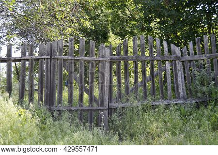 Beautiful Old Gate From Abandoned House In Village