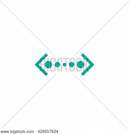 Vector Distance Icon. Two Opposite Horizontal Arrows Isolated On White. Flat Stretch Icon. Exchange