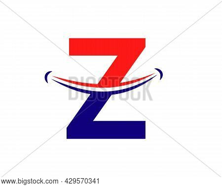 Smile Logo With Z Letter Concept. Initial Letter Z Happy Logo. Letter Z Smile Logo Concept