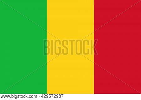 National Flag Of Mali Original Size And Colors Vector Illustration, Drapeau Du Mali Flag, Flag Of Th