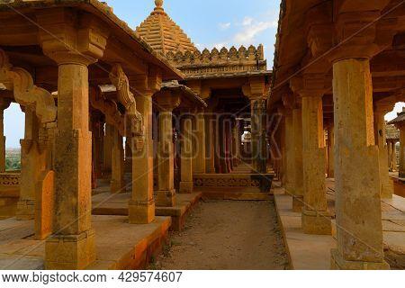 Royal Cenotaphs At Bada Bagh Or Barabagh, Means Big Garden, Is A Garden Complex In Jaisalmer, Rajast