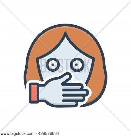Color Illustration Icon For Oppression Harassment Persecution Tyranny Prisoner Female Kidnap