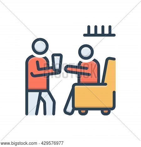 Color Illustration Icon For Obedience Adherence Respect Obedient Honor Compliant Dutiful Cooperative
