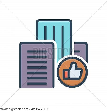 Color Illustration Icon For Occupying Accessible Inhabit Document Building Registration