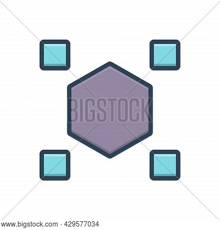 Color Illustration Icon For Odds Difference Distinction Spacing Distance Strange Weird Unusual Dispa
