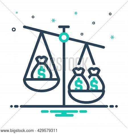 Mix Icon For Ratio Proportion Comparative Poise Equilibrium Imbalance Compare Balance Dollar Currenc