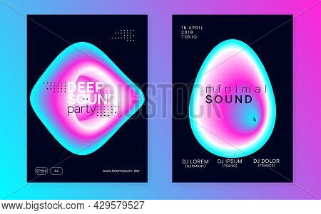 Club Event. House And Nightlife Vector. Creative Pattern For Mag