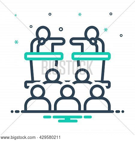 Mix Icon For Debate Parley Discussion Summit Confabulation Colloquy Deliberation Controversy
