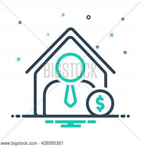 Mix Icon For Dealer Trader Merchant Business-man Vendor Wholesaler Marketer Home-dealer Agent