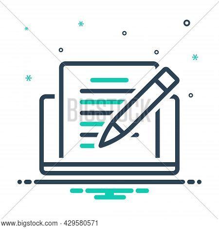 Mix Icon For Editor Pencile Copyholder Rewriter Deskman Writer Publishing Editorial Editable