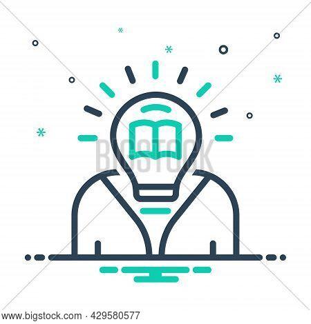 Mix Icon For Generate Book Originate Germinate Idea