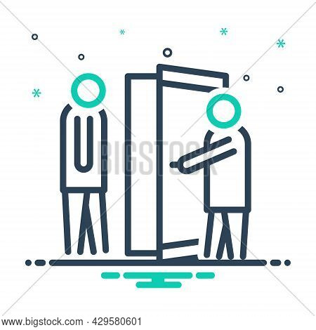 Mix Icon For Manner Welcome Open-door Respect Regard Deference Reverence Honor Esteem Thanks