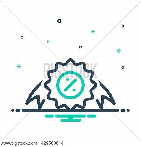 Mix Icon For Offer Proposal Offering  Sign Bargain Coupon Discount Circle Label Market Price Sale