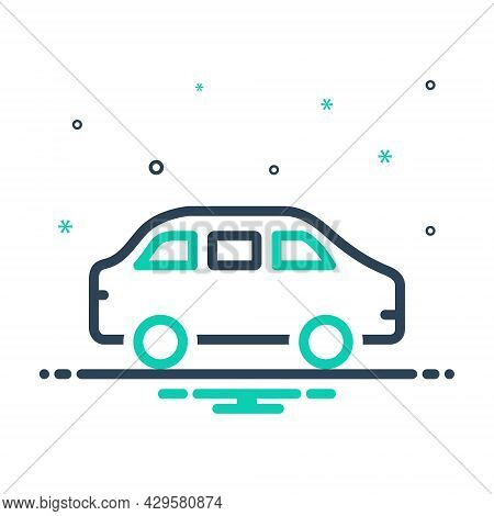 Mix Icon For Car Roadster Wagon Conveyance Carriage Transportation Transit Automotive Vehicle Automo