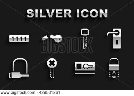 Set Wrong Key, Door Handle, Key Broke Inside Of Padlock, Card, Bicycle, Password Protection And Brok