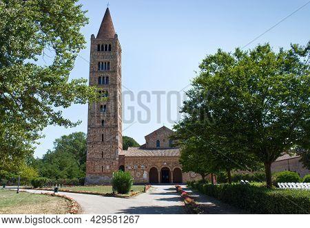 The Pomposa Abbey (abbazia Di Pomposa) Located In Codigoro, Ferrara. The Pomposa Abbey Is One Of The