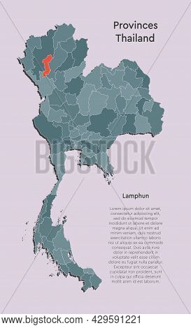 Vector Map Country Thailand And Region Lamphun