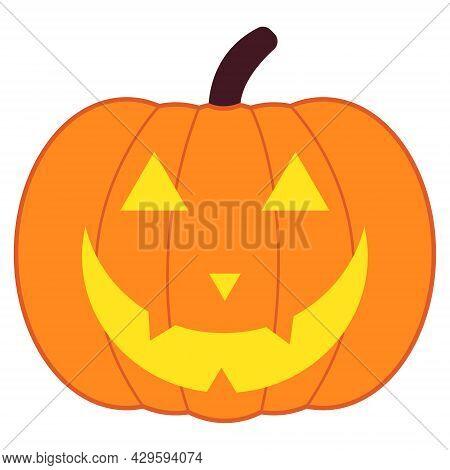 Halloween Colorful Pumpkin Logo.color Pumpkin Icon On White Background. Vector Pumpkin Illustration.